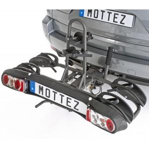 Porte-vélo pliable et rabattable 2 vélos